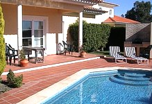 Portugal Cascais Villa Lisbon Estoril Penha Longa golf course accommodation Swimming pool